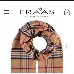 Cashmink V.Fraas brown plaid scarf